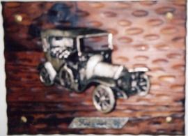Tavla Fiat av metall -1900