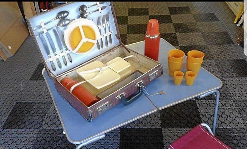 Picknickväska 50-tal