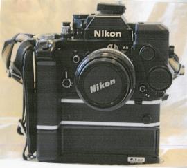 Nikon F2 AS svart mod