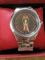 Herr armbands ur i borstat stål
