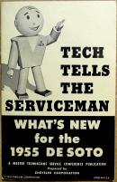 De Soto 1955 serviceinfo för bilmekaniker och servicemän