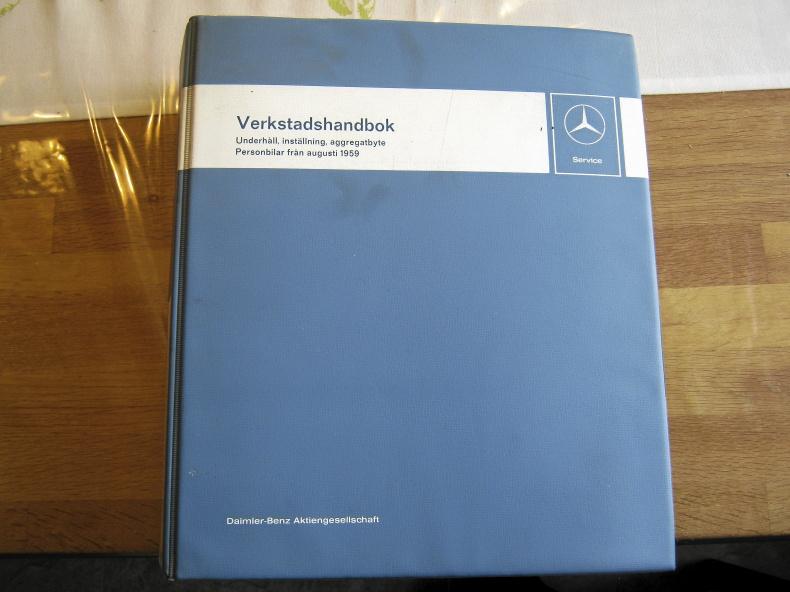 Verkstadshandbok Mercedes original på svenska