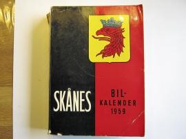 Skånes bilkalender 1959