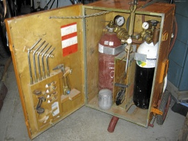 Komplett AGA gassvetsutrustning.