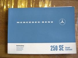 INSTRUKTIONSBOK MERCEDES 250 SE CP/CAB