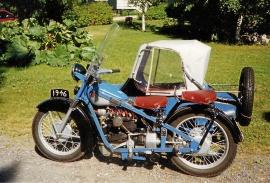 Nimbus 750cc med sidovagn