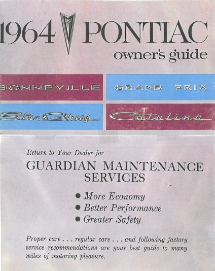 Pontiac instruktionsbok 1964