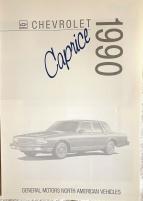 Chevrolet Caprice 1990 broschyr