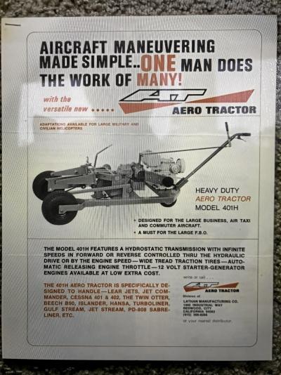 Flygplansdragare Aero Tractor James Dole