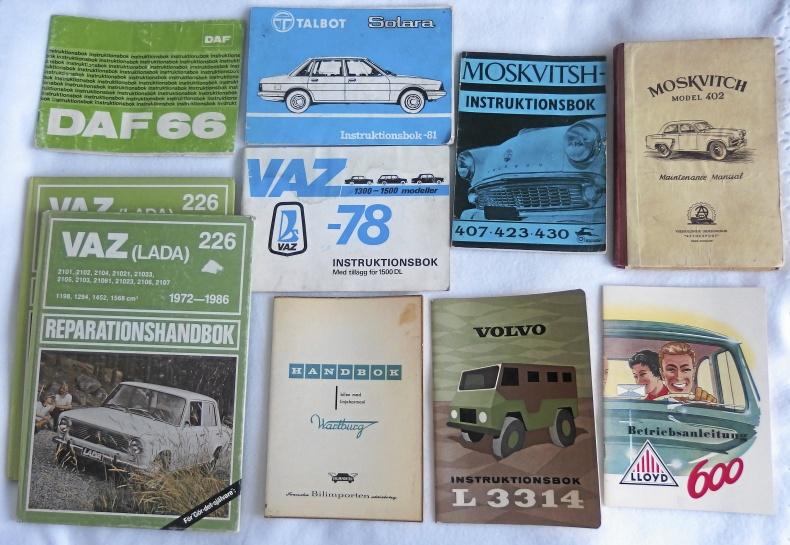 Broschyrer och intruktionsböcker