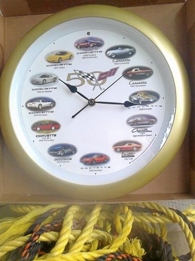 Corvette 50-års jubileums väggur.