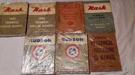 Reparationshandböcker Nash, Hudson, AMC, Rambler