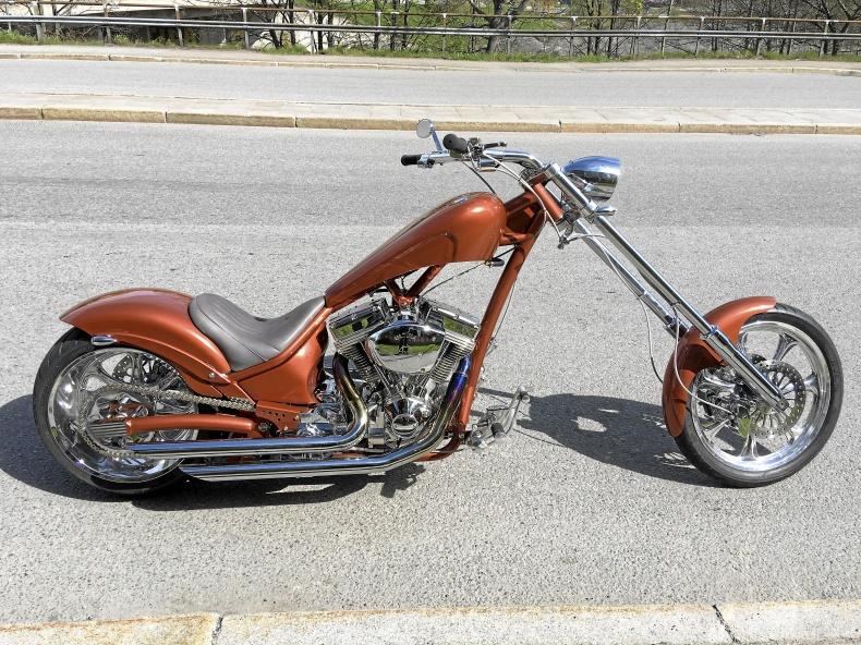 mobile_West Forrest chopper Harley