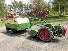 AGRIA Jordfräs med vagn och bevattningsagregat