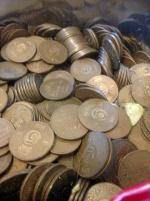 4,5 kg koppar mynt de stora 5 öringar