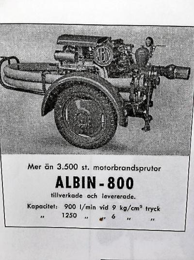 Albin Motorspruta modell 800