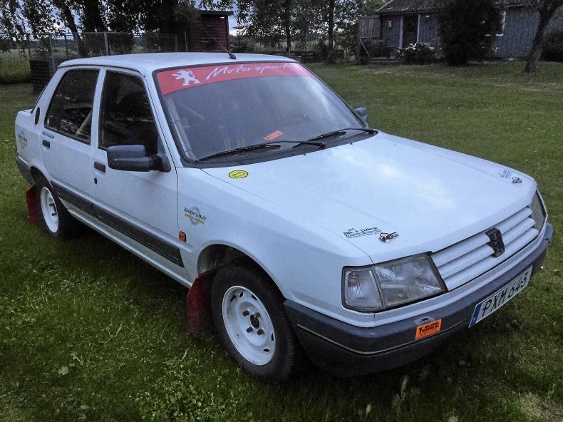 Peugeot 309 -93. Nybyggd rallybil grupp E