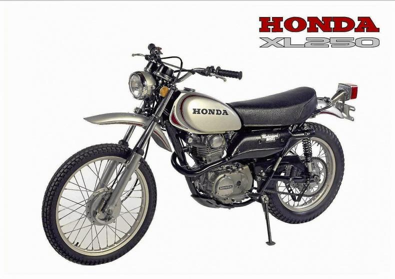 Äldre offroad motorcykel