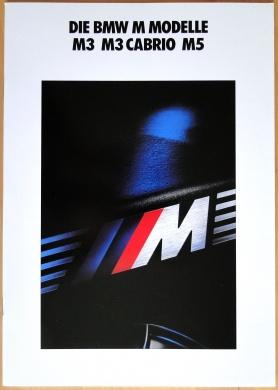 Broschyr BMW M3 M5 1991