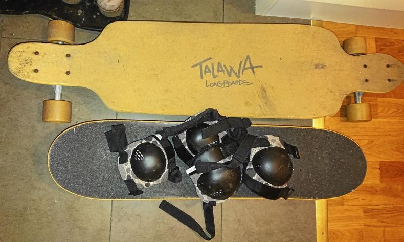 Longboard och skateboard säljes