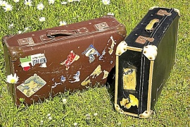 Gamla resväskor