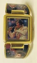 Elvis LP:s och klocka