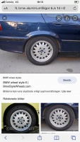 """4 ST BMW ALUMINIUMFÄLGAR 14"""" Style 6"""