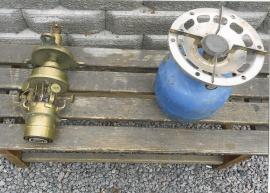 Gasolkök och fotogenfyrlampa