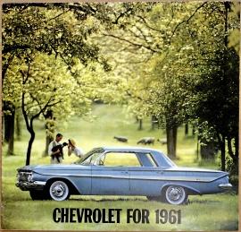 Broschyr Chevrolet 1961 i storformat