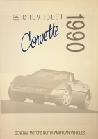 Chevrolet Corvette 1990 broschyr