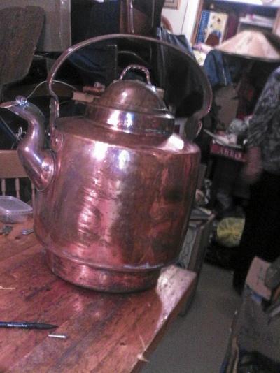 Kaffepanna i koppar