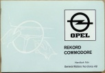 Opel Commodore instruktionsbok 1971
