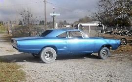Rostfri 1968 Dodge Coronet motorhuv