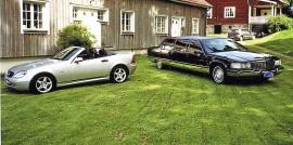 mobile_ Cadillac Limo och MB plåtcab