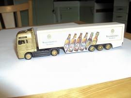 En trailer lastad med dryckesvararor