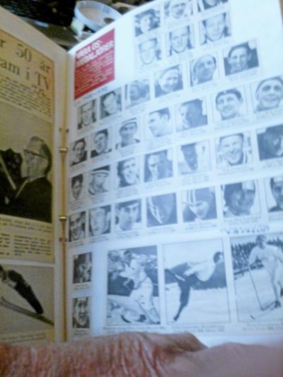 Pärm med idrottsbilder av alla slag 40-60 tal