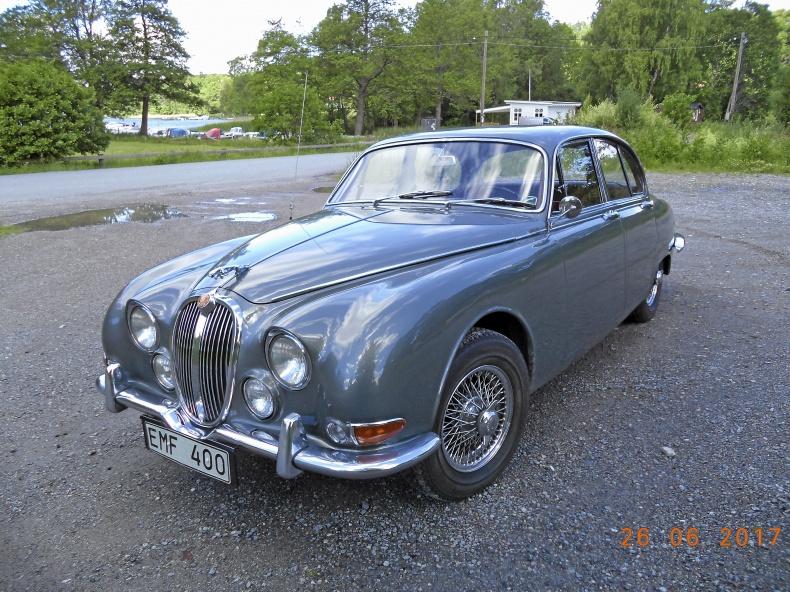 Jaguar 3,4 S, 4-vxl med OD, dubbla SU förg.