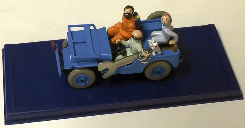 Jeep med Tintin
