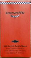 Chevrolet Corvette 1979 instruktionsbok