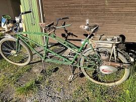 Tandemcykel med motor