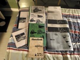 Instruktionsmanualer, sprängskisser, reservdelskatalog