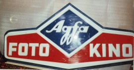 Ljusskylt Agfa