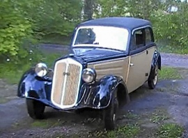 "DKW Favorit Lyx Sedan ""spånkorg"""