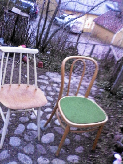 2 st udda stolar Edsbyn och Gemla böjträ
