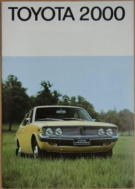 Broschyr Toyota Corona 2000 Mk II 1972
