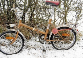 Hopfällbar cykel