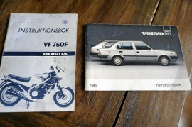 HONDA instruktionsbok VF 750 f