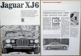 Broschyr Jaguar XJ6 1968 + tester