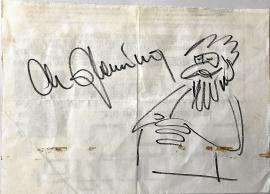 Christer Glenning självporträtt och Autograf