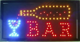 Neonskylt BAR